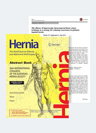 소아서혜부탈장 복강경수술 연구논문, SCI국제학술지 게재